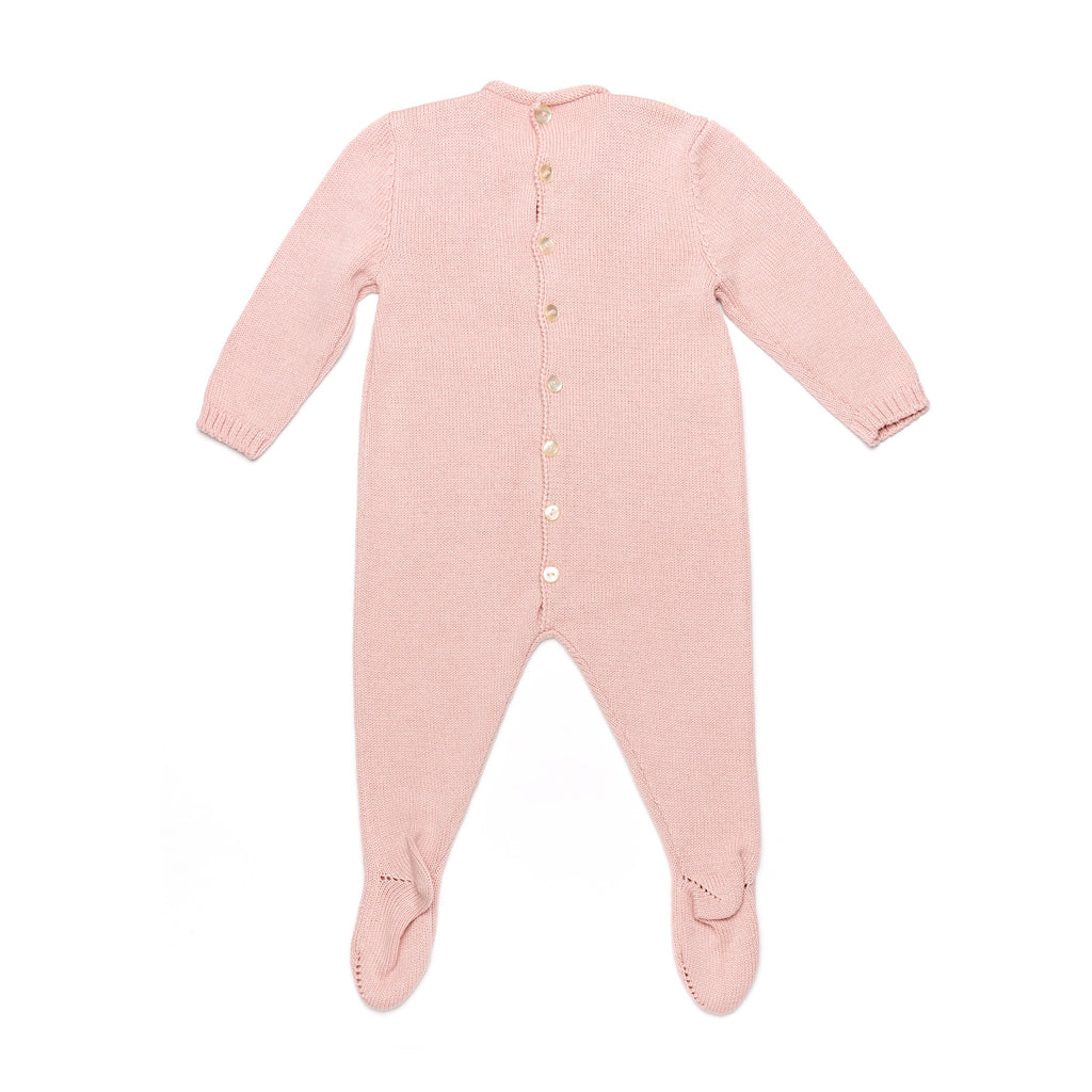 Pink Onesie with Lace Bib