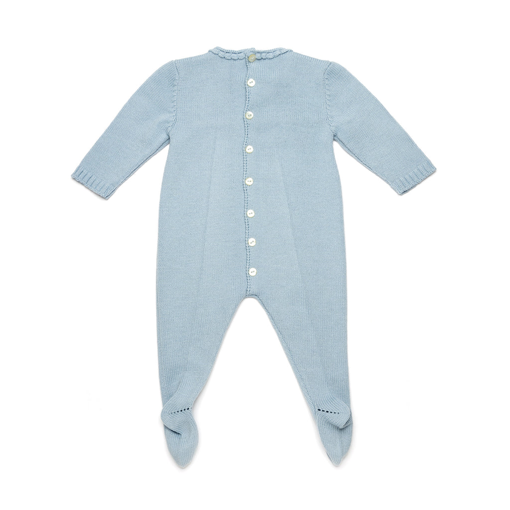 Blue Knitted Onesie