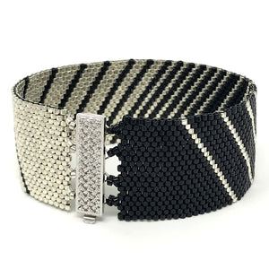 Black and Silver Stripes Beading Kit