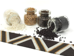 Brown Stripes Beading Kit
