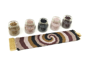 Gold Spirals Beading Kit