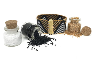 Gold and White Stripes Beading Kit
