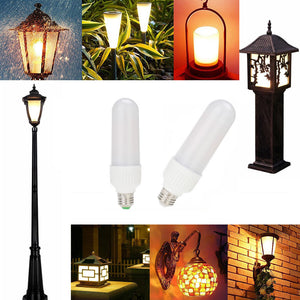 LED Flame Effect Fire Light Bulbs,3 modes Creative with Flickering Emulation Lamps