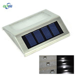 LED Solar Bright Step Light Stairs Pathway Deck Garden Lamps Stainless Steel Wall