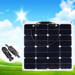 50W Solar Panel Sunpower 18V 12V Lightweight Bendable Semi Flexible Solar Panel