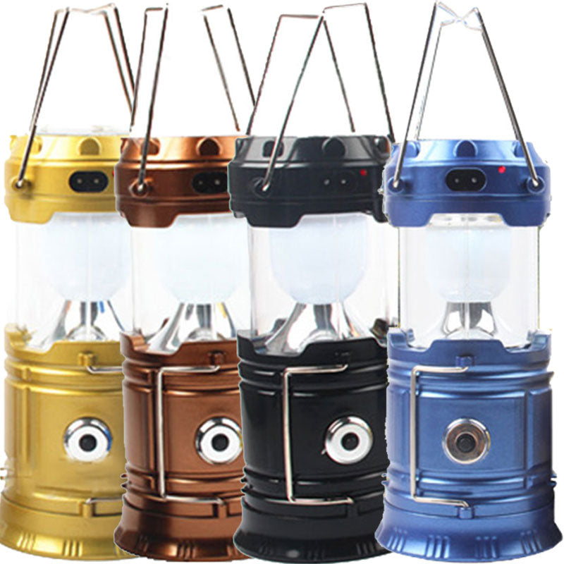 Solar Rechargeable Led Camping Lantern Flashlight Ultra Bright