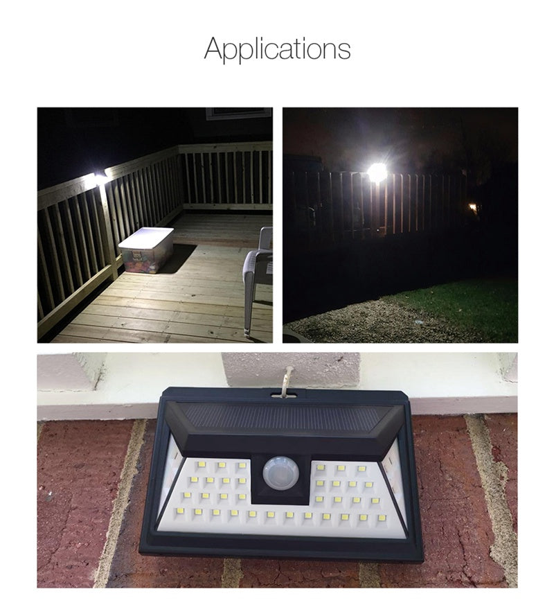 Solar Lights ,44 LED Outdoor Motion Sensor Solar Lights Wide Angle Motion Activated