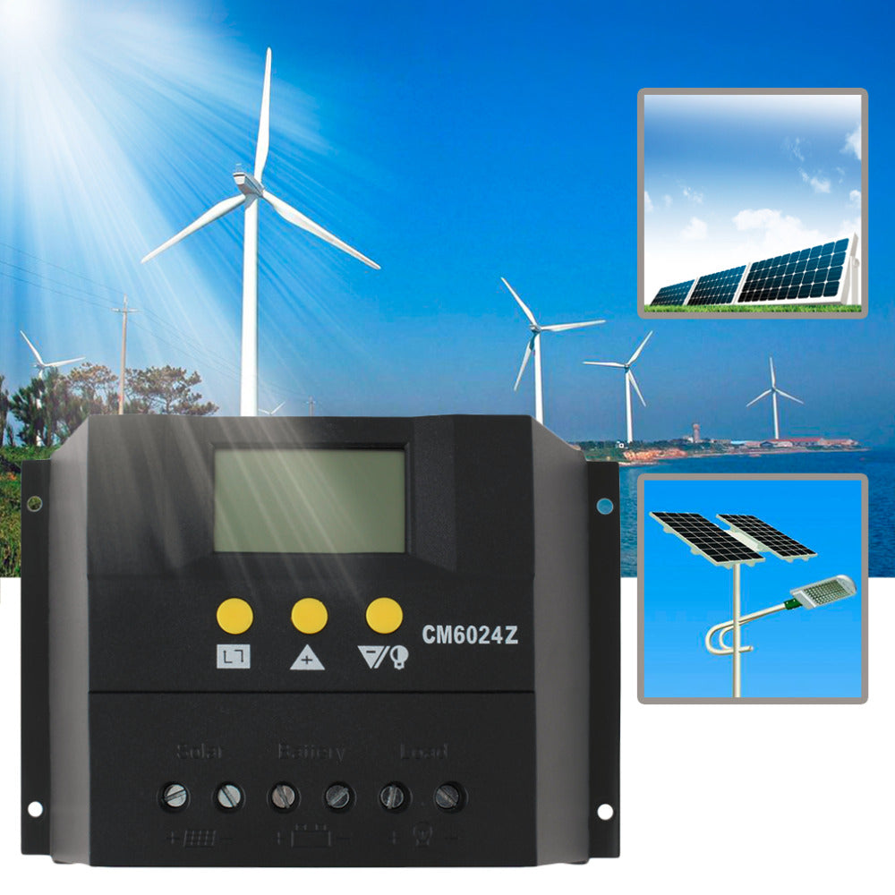 Solar Charge Controller 60A PWM PV Regulators with LCD Monitor (60A)