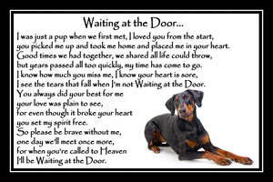 Doberman Pinscher Pet Dog Memorial Print