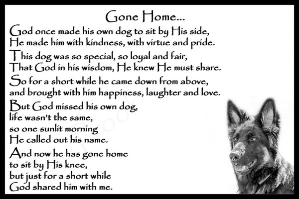 German Shepherd rainbow bridge pet dog memorial