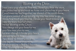 Westie Pet Dog Memorial Flexible Fridge Magnet