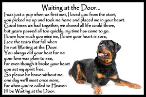 Rottweiler Pet Dog Memorial Flexible Fridge Magnet