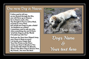 Personalised Pet Dog Memorial Print