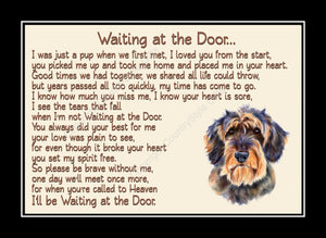 Wirehaired Dachshund Pet Dog Memorial Waiting at the Door Print
