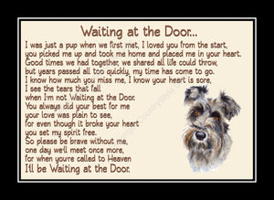 Schnauzer Pet Dog Memorial Waiting at the Door Print