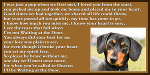 Dachshund Pet Dog Memorial Rainbow Bridge Gift