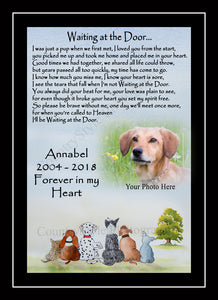 Personalised Pet Dog Rainbow Bridge Memorial Print