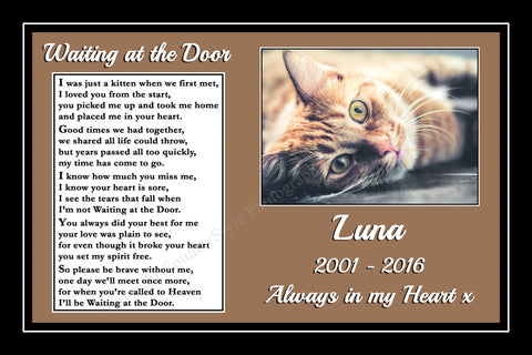 Personalised Pet Cat Memorial Print