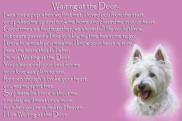 Westie Pet Dog Memorial Rainbow Bridge Gift