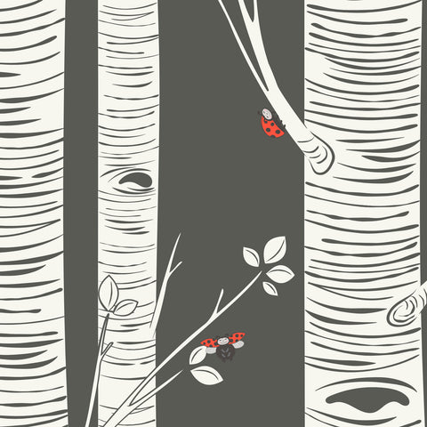 Birch Trees and Ladybugs | W1024