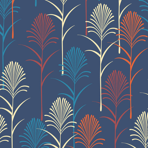 Art Deco Leaf Pattern | W1038