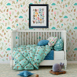 April Showers Large Floral Removable Wallpaper