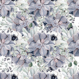 Large Floral Succulents in Muted Tones | W1184