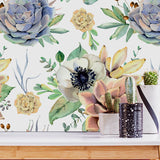 Large Floral Removable Wallpaper