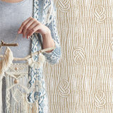 Boho Macramé Knots in Beige | W1191