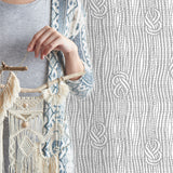 Boho Macramé Knots in Light Gray | W1191