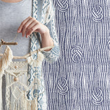 Boho Macramé Knots in Indigo Blue | W1191