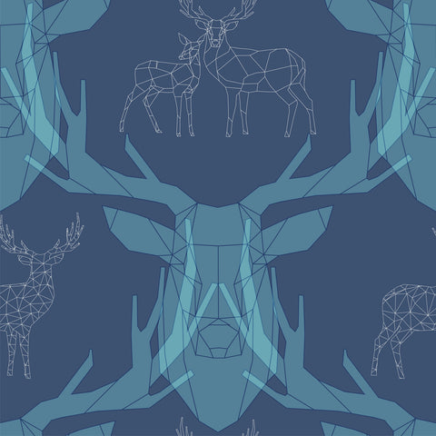 Woodland Geometric Deer | W1226