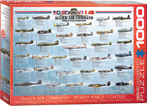 Allied Command WWII Aircraft Puzzle - 1000 Pcs