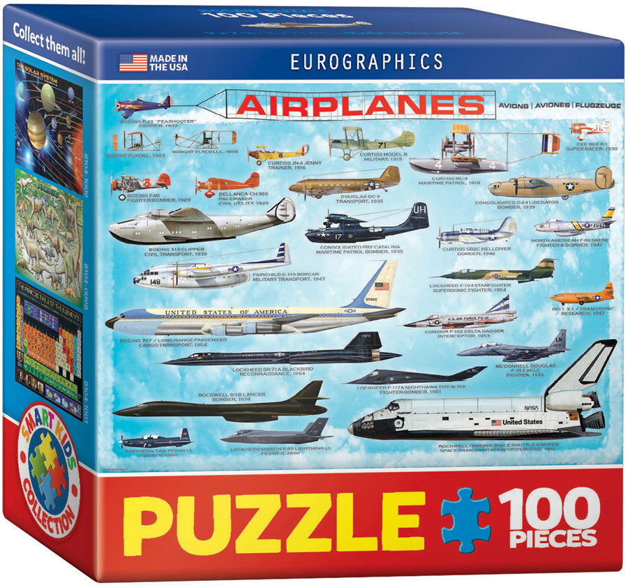 Airplanes Mini Puzzle - 100 Pcs