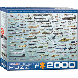 Evolution of Military Aircraft Puzzle - 2000 Pieces