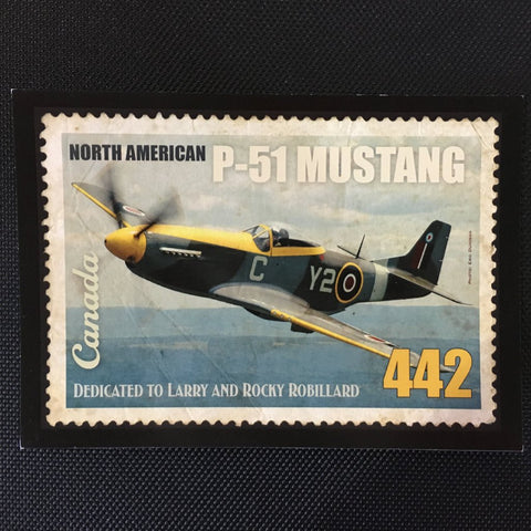 North American P-51 Mustang Postcard
