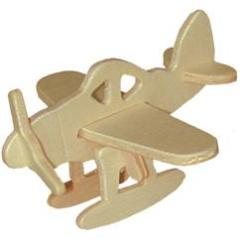 Mini 3D Airplane Wood Puzzle
