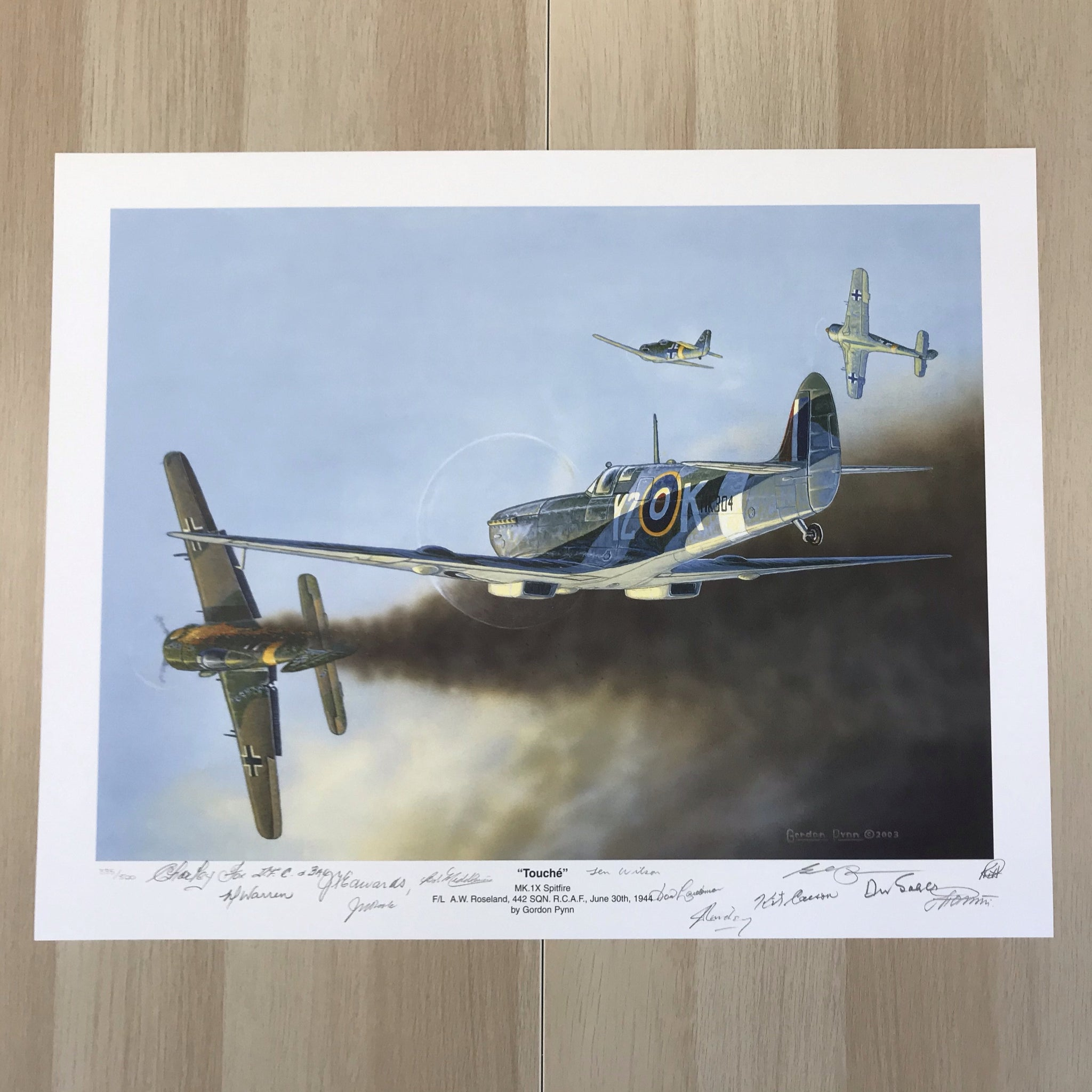 """Touché"" Y2K Spitfire Print by Gordon Pynn"
