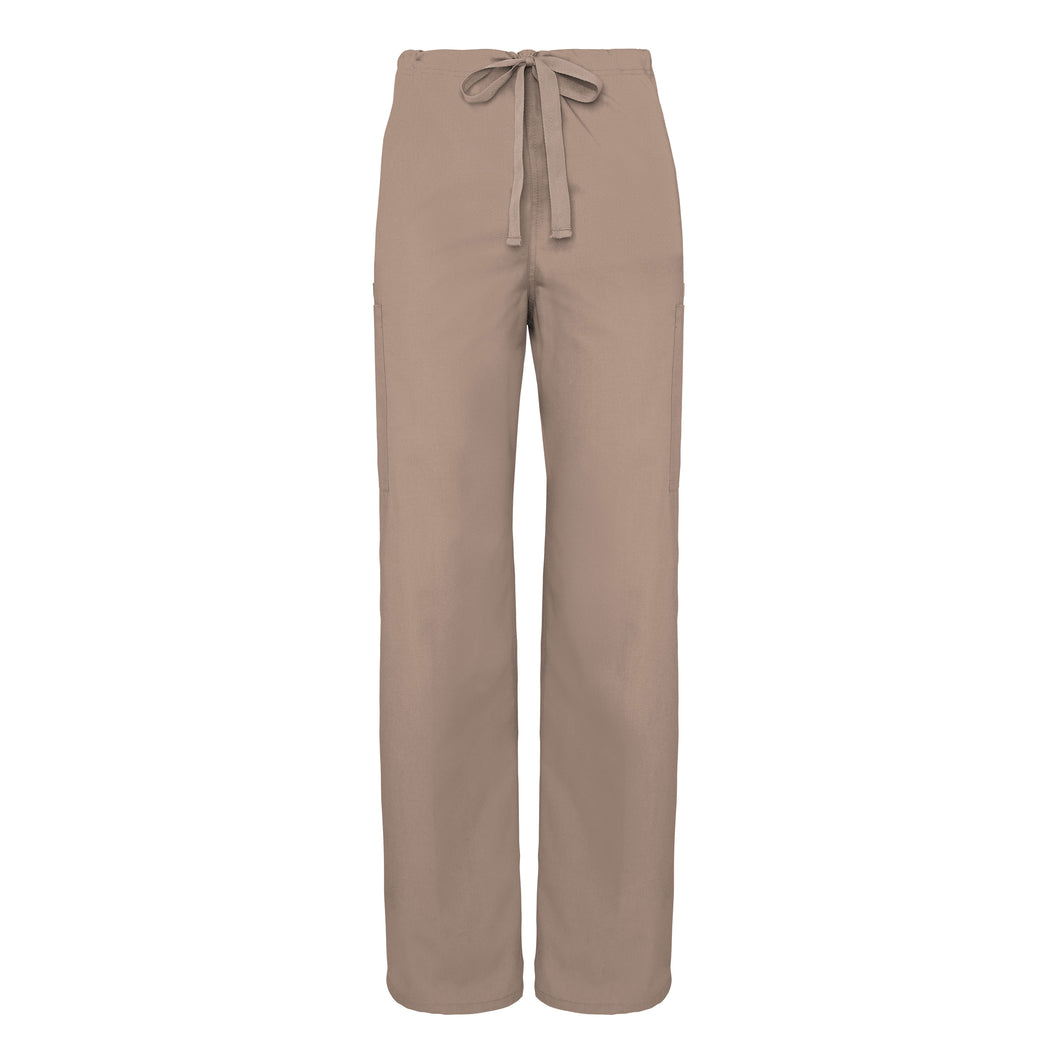 Natural-Rise 5 Pocket Drawstring Tapered Leg Pants