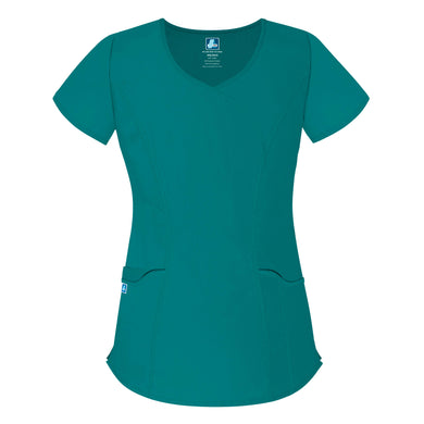 UNIVERSAL WAVE POCKET CROSSOVER SCRUB TOP
