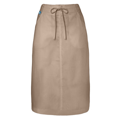 Mid-Calf Length Drawstring Skirt