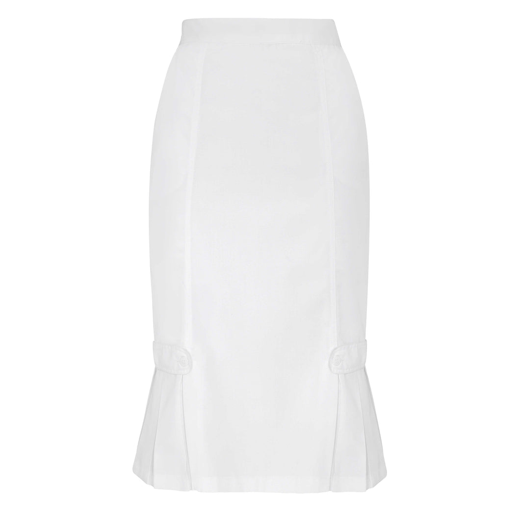 Tabbed Pleat Panel Skirt