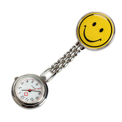 Nurses' Smiley Face Analog Lapel Watch