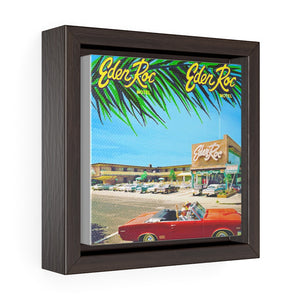 Eden Roc Motel in the 1960's - Wildwood NJ - Square Framed Premium Gallery Wrap Canvas