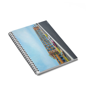 Gold Crest 1960's Rendering, Wildwood, NJ - Spiral Notebook - Ruled Line