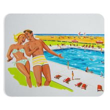 Artwork 1960's Couple by the Pool - Mousepad