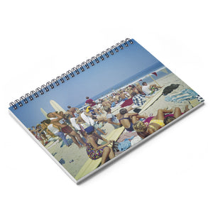 Surfing Contest 1960's Virginia Beach, VA  - Spiral Notebook - Ruled Line