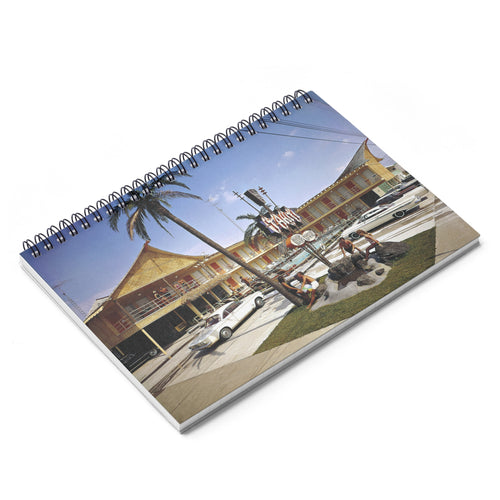 Tahiti Motel, 1960's Wildwood, NJ - Spiral Notebook - Ruled Line