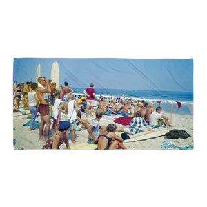 Surfing Competition in the 1960's - Beach Towel