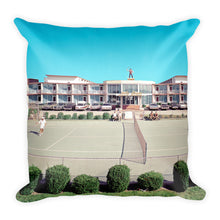 Jolly Roger Motel, Wildwood, NJ 1960's Tennis & Pool Pictures on a Square Pillow